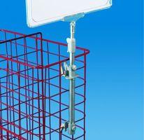 Plakathalter mit Teleskop-Standrohr, Drahtkörbe