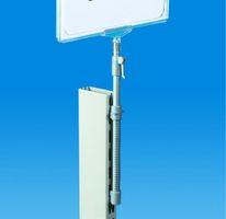 Plakathalter mit Teleskop-Standrohr, Regalsäulen