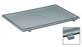 Deckel mit Scharnier für 600x400 mm, grau