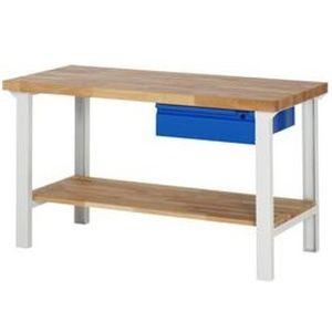 Werkbank Basic-7 mit Schublade und Ablageboden 1