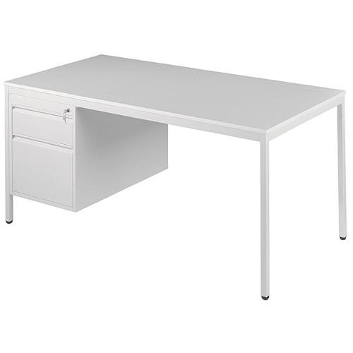 schreibtisch grau mit unterbau. Black Bedroom Furniture Sets. Home Design Ideas